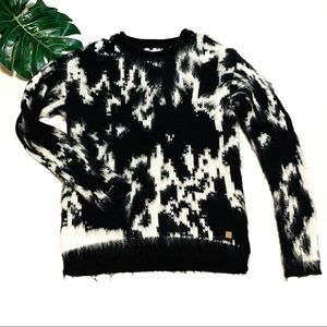 Anthropologie numph black & white sweater